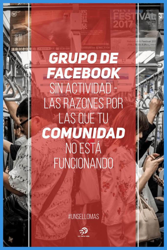 Grupo de Facebook sin actividad